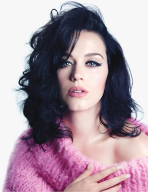 Katy Perry Look Awasome in Black short hair