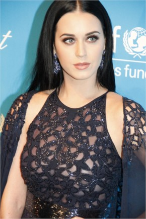 Katy Perry Look Dashing in Black Transparent Dress