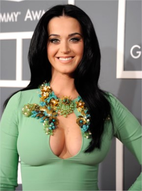 Katy Perry Showing Epic Cleavage In A Very Tight Dress At The Grammy's