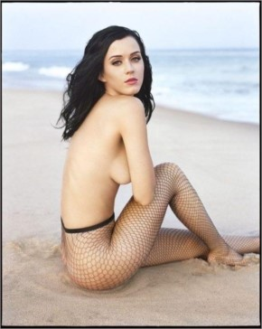 Katy posing bold on beach without cloths