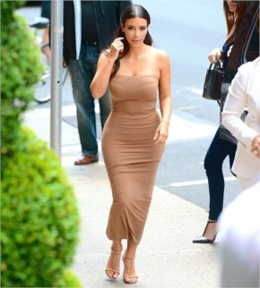 Kim Kardashian Wears Extremely Tight Dress While Out In NYC
