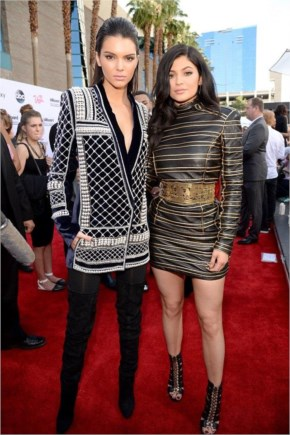 Kylie Jenner and Kendall Jenner Style | Balmain for H&M outfits at the Billboard awards