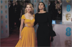 Lea seydoux monica bellucci at ee british academy film awards