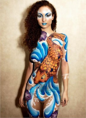 London body painting artist - Koi