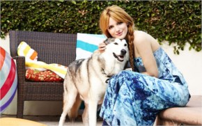 Lucky dog with Bella Thorne
