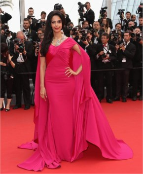 Mallika Sherawat | Looks Elegant in Alexis Mabille Gown at Cannes Film Festival 2015