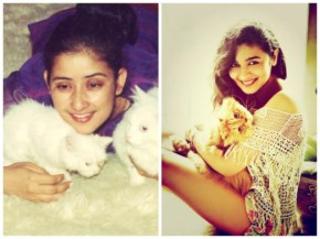Manishha and Alia with their cute Cats