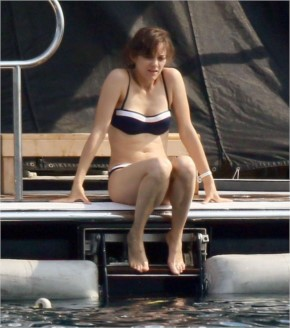 Marion cotillard in a bikini on a yacht in cannes