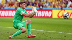 Mathew Ryan of Australia makes a save during the 2014 FIFA World Cup Brazil