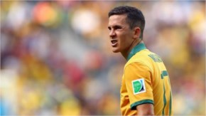 Matt McKay of Australia takes a moment to react during the 2014 FIFA World Cup Brazil Group B match between Australia and Spain at Arena da Baixada