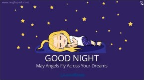May Angels Fly Across your Dreams - Good night Quotes for Cute Baby
