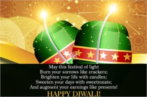 May this festival of light Burn your sorrows like crackers