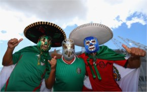 Mexico fans enjoy the atmosphere prior to the 2014 FIFA World Cup
