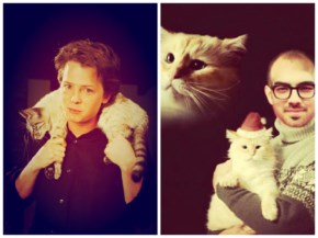 Celebrity With their Cute Cats