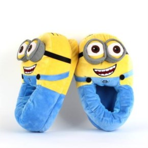 Minion despicable me cotton Slippers Funny cartoon kawaii warm slippers in home winter indoor shoes for women men