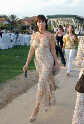 Monica Bellucci Sexy Flower Dress