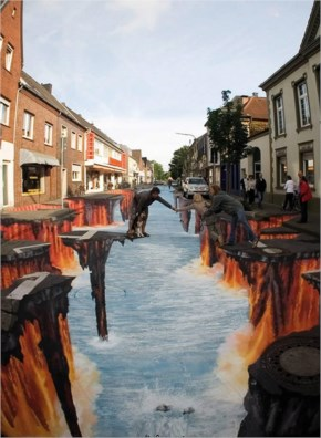 New Amazing 3d Sidewalk Art Painting Photos