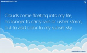 No Longer To Carry Rain Or Usher Storm - Inspirational Quotes on Life