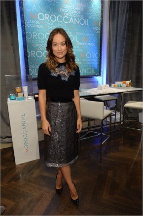 Olivia Wilde in a Marios Schwab top into an embellished skirt at Toronto International Film Festival style.