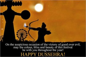 On the auspicious occasion of the victory of good over evil