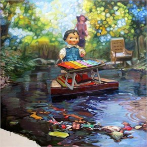 Paintings By Frederic Deprun Vibrant Paintings Of Nostalgic Worlds In Which The Characters Come To Life And Were Inspired By Childhood Games, ...