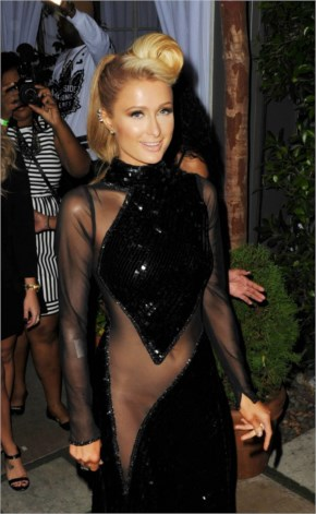 Paris Hilton in Paris Hilton at 2014 Pre-Grammy Celebration in Los Angeles