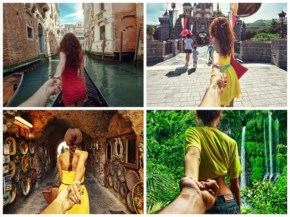Photographer Captures Girlfriend Leading Him Around the World