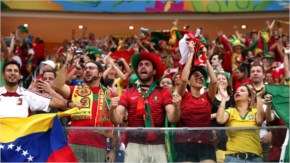 Portugal fans cheer