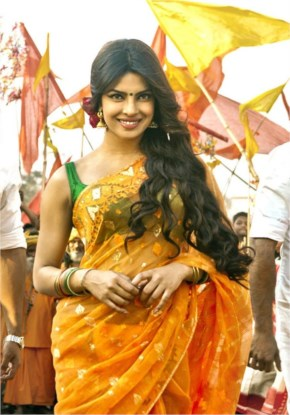 priyanka chopra in yellow saree from gunday