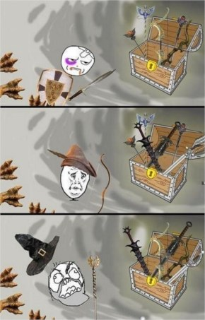 Rage comics cat Everytime I play a RPG
