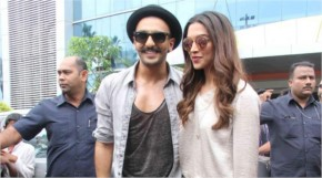 Ranveer Singh, Deepika Padukone for the launch of Gajanana from Bajirao Mastani in Pune