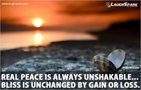 REAL Peace is always Unshakable | Yoga Quotes of the Day