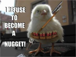 Refuse To Become A Nugget! Funny Picture