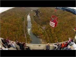 Ridiculous DIY Catapult Launches People Off a Bridge