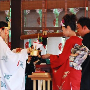 Sake-sharing ceremony, Japan