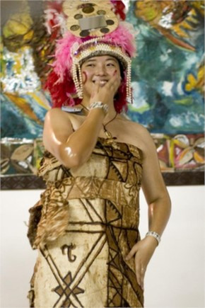 Samoa bridal dress
