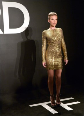 Scarlett Johansson attend the Tom Ford A/W 2015 Womenswear Collection Presentation