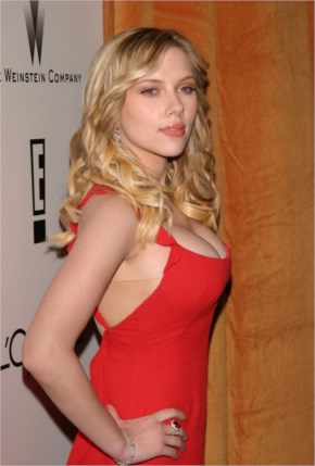 Scarlett Johansson in Red Top Images