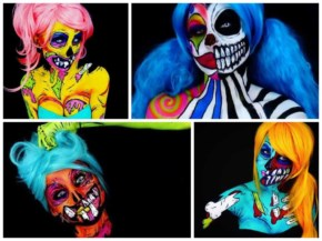 Scary Beautiful Body Paintings by Corie Willet