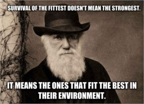 Scientific Motivation- Survival of the fittest doesn't mean the strongest