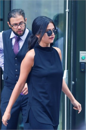 Selena Gomez Rock in BLACK  at NYC