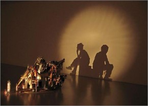 Shadow Art Sculpt with light and Shadow
