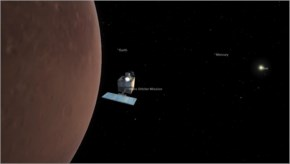 Simulated view of Mars Orbiter Mission