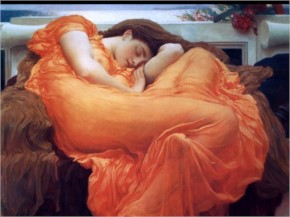 Sleeping women painting abstract fantasy