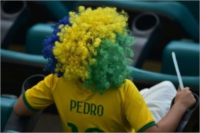 Some fans decide to have a whole new hairstyle and that's the way to go for these football lovers