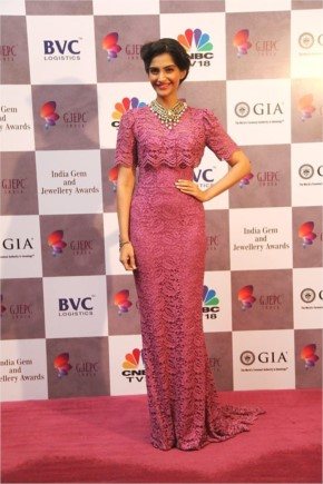 Sonam Kapoor at the India Gem & Jewelry Awards