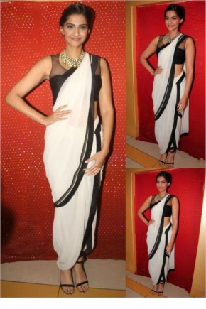 Sonam Kapoor Top amazing Looks in designer Sarees