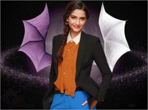 Sonam Kapoor Black Blazer Face Looks Cool with a tied hairstyle
