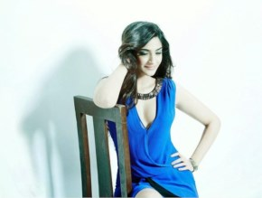 Sonam Kapoor in Blue with a lovely hairstyle