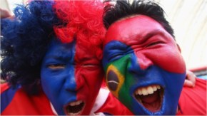 South Korea fans enjoy the atmosphere